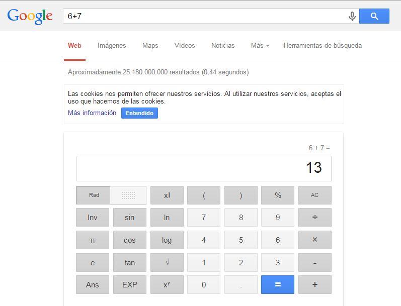 trucos de google calculadora