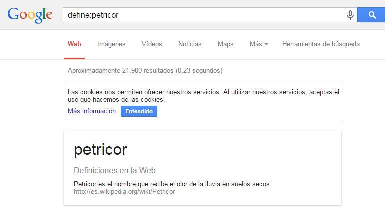 trucos de google define