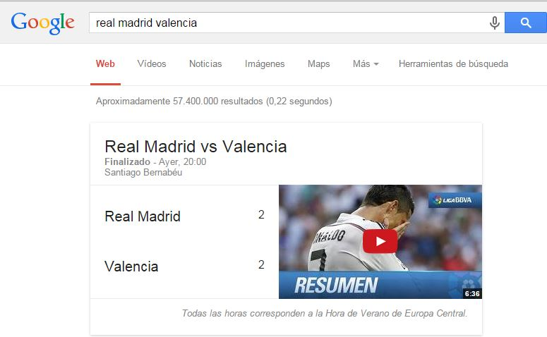 trucos de google fútbol