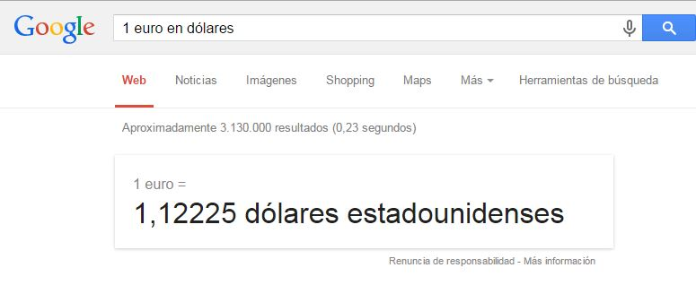 trucos de google moneda