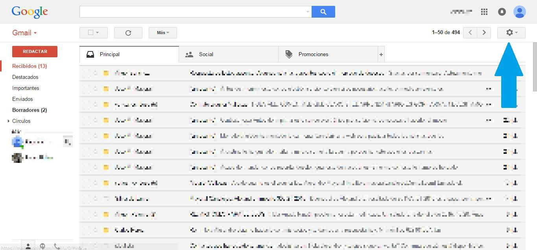 configuración ajustes gmail
