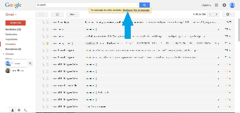 deshacer mail después de enviado