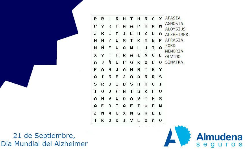 ejercicios de memoria alzheimer sopa de letras